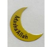 MashAllah Crescent and star gold sticker pack